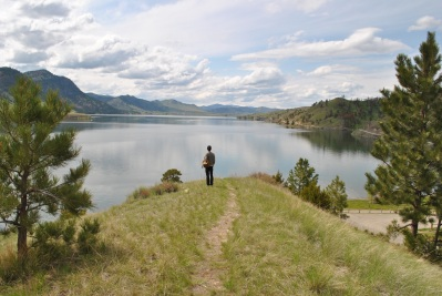 Devin at Holter Lake in Montana